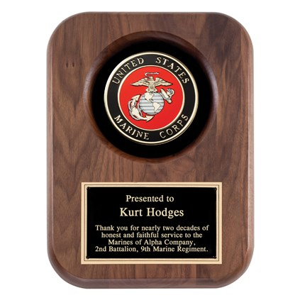 Wood Military Plaque-Marine Corps